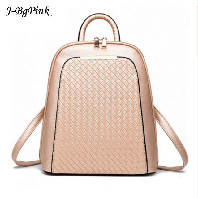 7ea693deb8ef 2018 Vintage Casual New Style Backpack Leather High Quality Hotsale Women  Candy Clutch Ofertas Famous Designer Brand School Bag