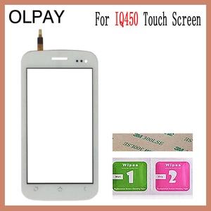 Image 2 - OLPAY 5.0 터치 스크린 Fly IQ450 IQ 450 터치 스크린 디지타이저 패널 전면 유리 렌즈 센서 툴 접착제 + 닦음 장치