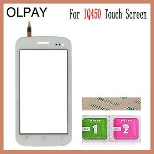 Image 2 - OLPAY 5.0 מגע מסך עבור טוס IQ450 IQ 450 מסך מגע Digitizer פנל קדמי זכוכית עדשת חיישן כלים דבק + מגבונים