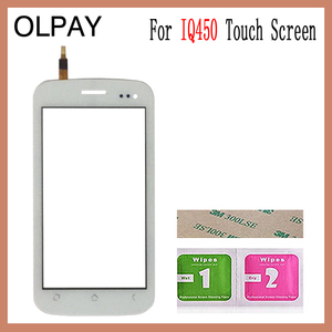 Image 2 - OLPAY 5.0 Touch Screen For Fly IQ450 IQ 450 Touch Screen Digitizer Panel Front Glass Lens Sensor Tools Adhesive+Wipes