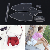 Small elephant cartoon single shoulder oblique spanning acrylic mold version DIY pattern template DIY handmade leather goods