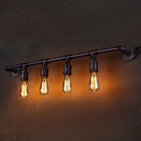Industrial Retro Metal Loft Antique Wall Lamp Vintage style Farmhouse Industry Steam Punk Water Pipe Wall Sconce wall light lamp