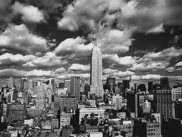Vintage posters canvas painting photographic print decorative scenery view black and white pictures new york sky