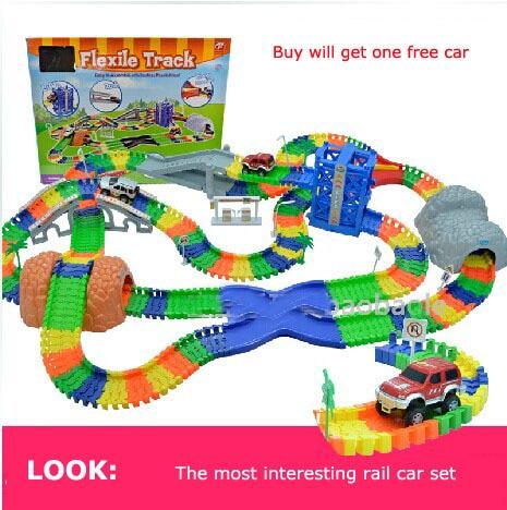 Diecast DIY Children s large toy Roller Coaster track Electronics Toy font b Car b font