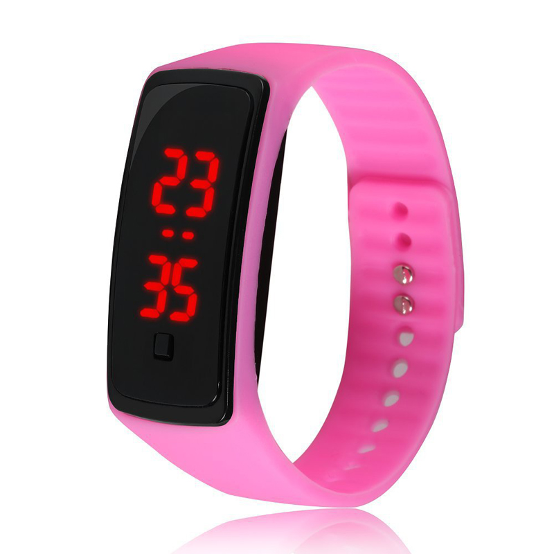 MEIBO Women Men LED Digital Screen Watch New Silicone Watchband Sports Watches Fashion Outdoor Kids Wristwatches
