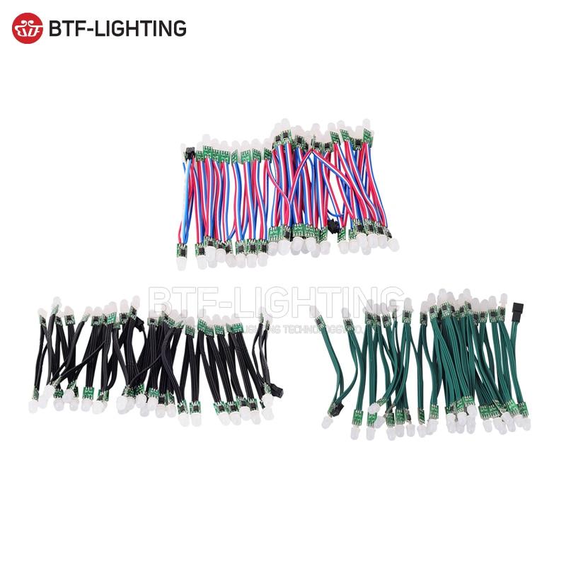 50 pz/100 pz WS2811 DC 5 V/12 V Nero/Verde/RSF Filo; LED modulo Pixel Stringa, indirizzabile, non impermeabile IP30
