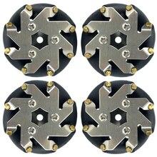 48 ミリメートル鋼メカナムホイールセット (2 左、 2 右) 14209