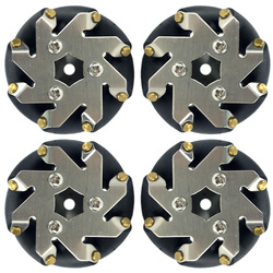 48 millimetri in acciaio Mecanum ruote set (2 A Sinistra, 2 A Destra) 14209