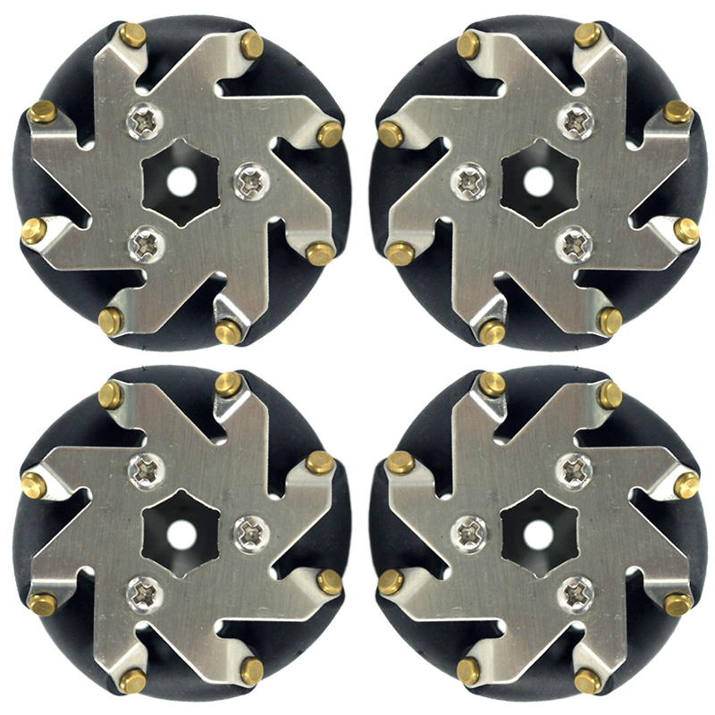 48mm Steel Mecanum Wheels Set( 2 Left, 2 Right) 14209