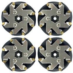 Juego de ruedas Mecanum de acero de 48mm (2 izquierda, 2 derecha) 14209