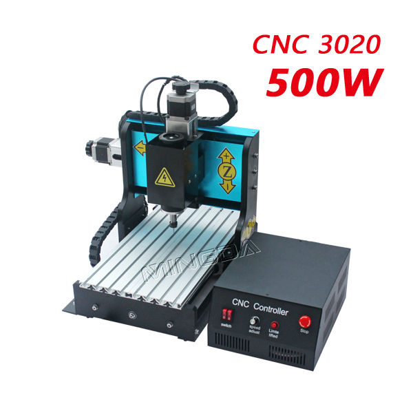 Cheap Price ! CNC 3020 Engraver Machine with 24000RPM  / Mini 500W Spindle CNC Milling Machine For Sale