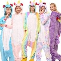 Unicorn Pajamas Children Bathrobe Unicornio Cosplay Anime Animal Boy Girls Pyjamas Onesie Kids Adult Sleepwear Fleece