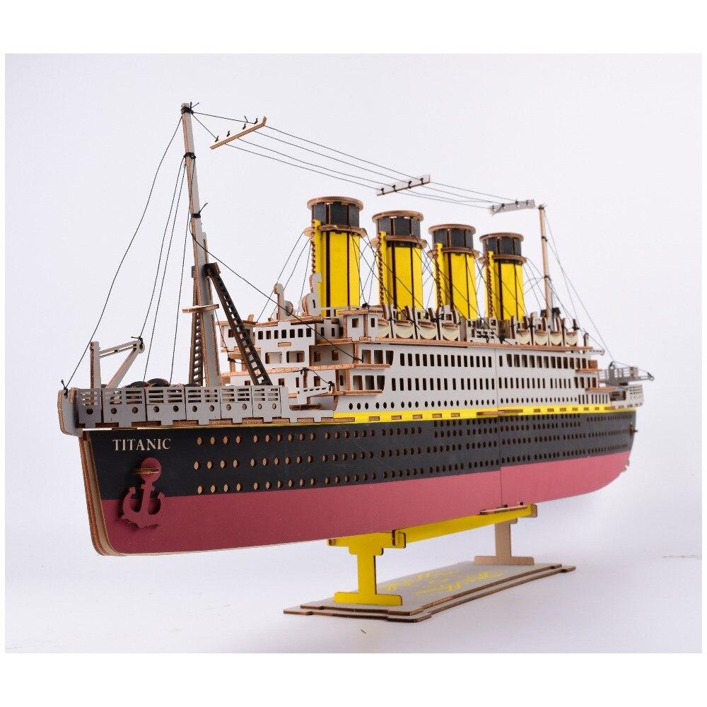 3D Puzzle En Bois modèle réduit Assemblée Navire Modèle Kits Classique Bois décorations artisanales Partie La Maison Chambre Décoration Jouets Enfants Cadeaux