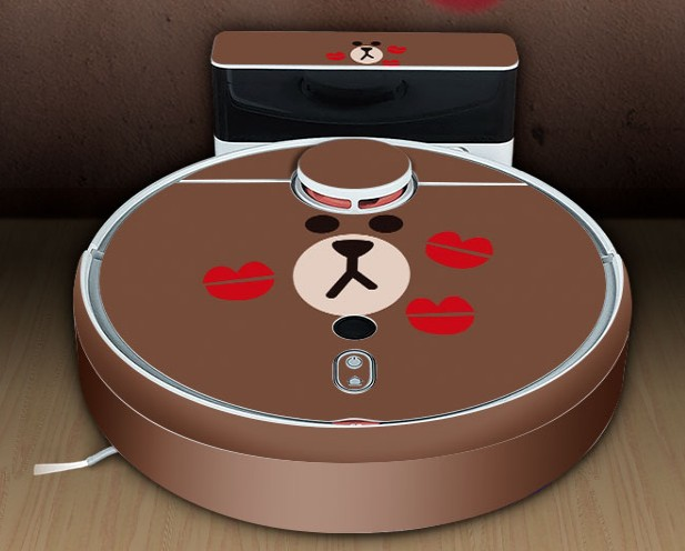 Robot Vacuum Cleaner Cute Sticker for xiaomi 1S Robotic Vacuum Cleaner Protective Film Sticker Paper Cleaner Parts Accessories