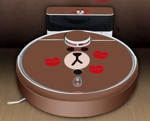 Image 2 - רובוט שואב אבק חמוד מדבקת עבור xiaomi 1S רובוטית שואב אבק מגן סרט מדבקת נייר מנקה חלקי אבזרים
