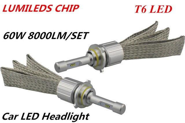 Lumileds LUXEON LED Headlight 60 W 8000LM Chip de ZES H1 H3 H4 H7 H8 H9 H11 9005 9006 9004 9007 H13 Del Coche LED Faros de Niebla Bombilla de La Lámpara