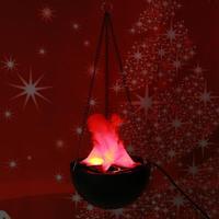 20 cm Halloween Lampa Światło Latarki LED Wiszące Fałszywe Płomień Ognia garnek Wystrój Festiwal Party Śmieszne Fałszywe Ogień Kosz na Imprezę materiałów eksploatacyjnych