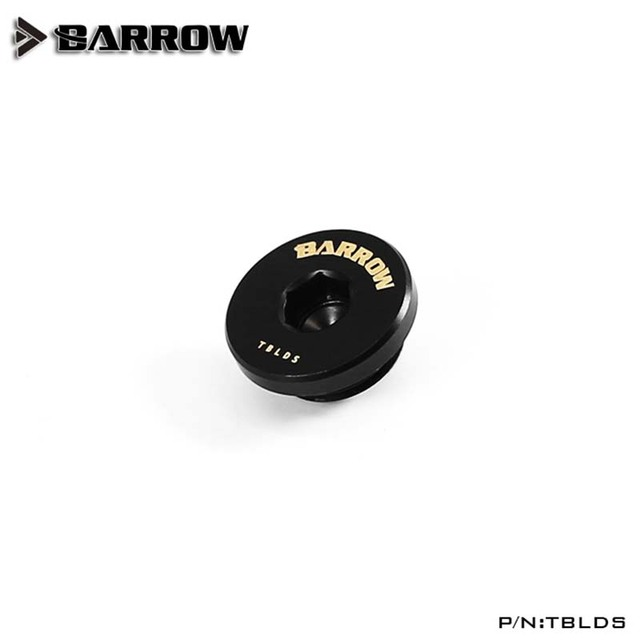 Barrow water cooler Stop Fitting Ultra-thin Recessed Hexagon Black/Silver/White/Gold Hand Twist heatsink gadget