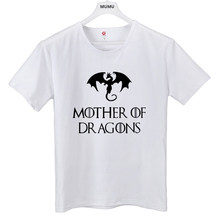 ff8803f03a1ea Hot pop Women T-shirt Game of Thrones Ringer Tee Shirt Femme Mother of  Dragons