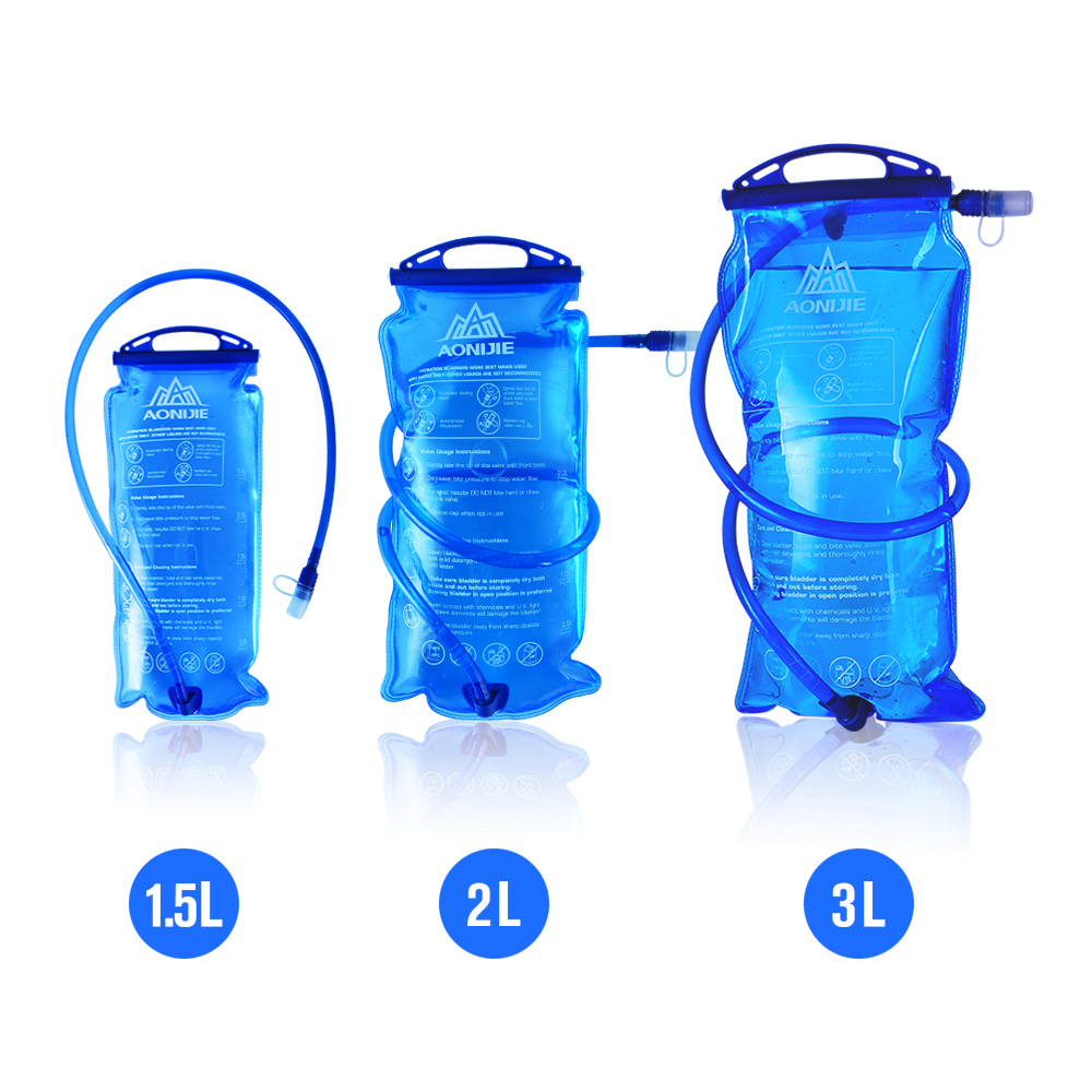 AONIJIE Outdoor Cycling Running Foldable PEVA Water Bag Sport Hydration Bladder