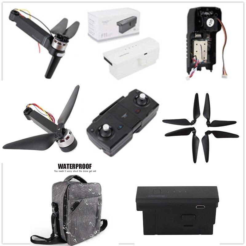SJRC F11 piezas de repuesto y hélices de acceso 5G 1080P Wifi brazo de la cámara con el Cable de carga del Control remoto del Motor