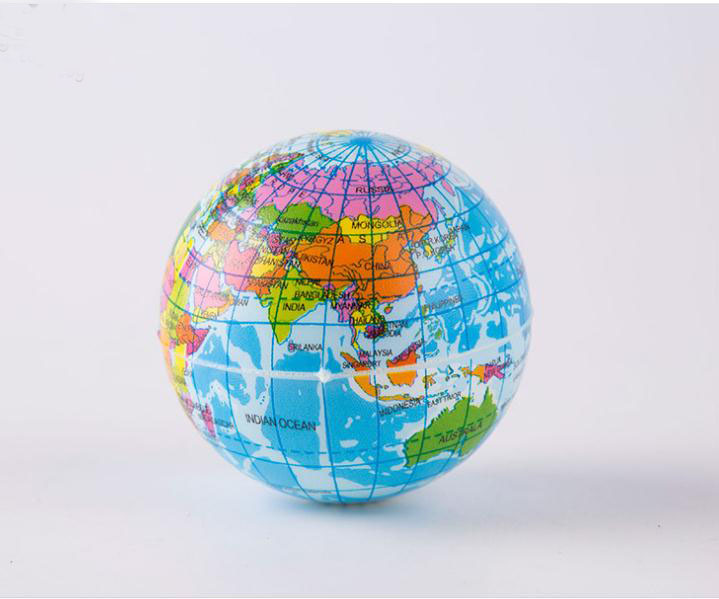 10pcslot world map foam earth globe stress relief bouncy ball for 10pcslot world map foam earth globe stress relief bouncy ball for baby kids funny children educational toy 63cm 76cm 10cm in toy balls from toys gumiabroncs Choice Image