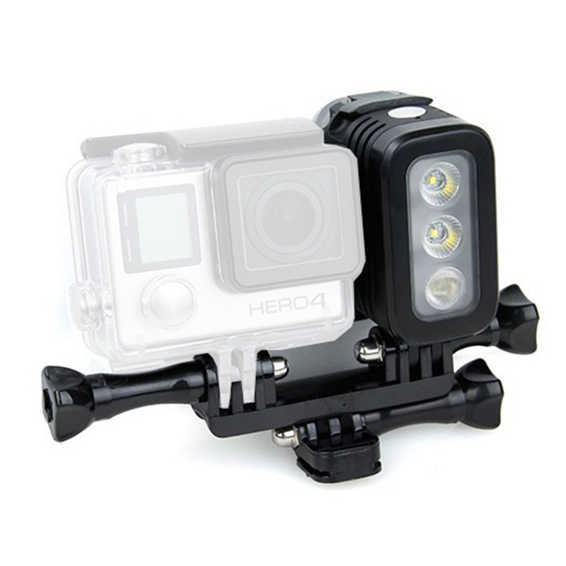 все цены на Go Pro Accessories Fill light LED Flash Light Spot Lamp for xiaomi yi GoPro Hero 5 4 Session 3+ 3 2 SJCAM sj6000 sj5000 Camera