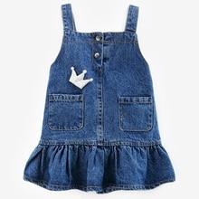 Toddlers Denim Dresses For Girls Children Clothing Summer Brand Baby Kids Sundress 0-5Years girls clothing of kids