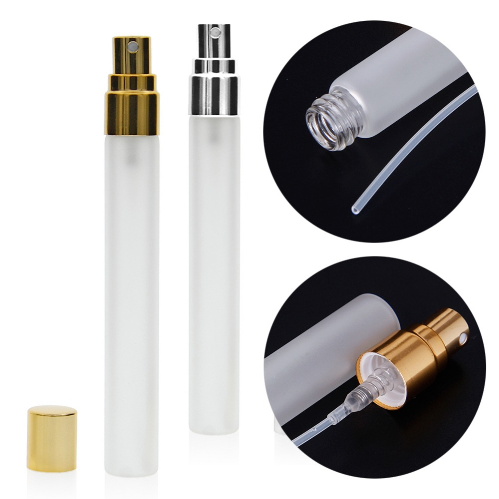 1Pcs 10ml Parfum Atomizer Glass Frost Bottle Spray Refillable Fragrance Perfume Empty Scent Bottle for Travel Portable #253243 fragrance lamp glass bottle with catalytic burner for modern family life