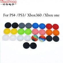 2 pcs Borracha de Silicone Controlador Analógico Thumb Vara Grips Cap Capa para PS3 PS4 PS2 Controlador para Xbox 360 Um thumbsticks Cap