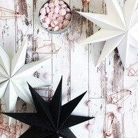 FAROL DE PAPEL DE NUEVE ángulos para decoración artesanal, farol de estrella colgando de Navidad, Fiesta en casa, decoración de boda y Navidad, 1 unidad