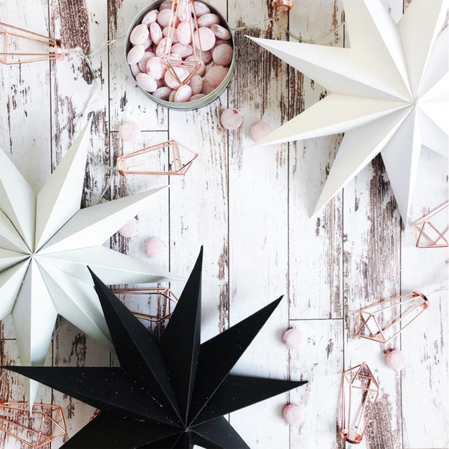 "1pcs 30cm 6"" DIY Nine Angles Paper Star Hanging Christmas Lantern Home Party Decoration Craft"