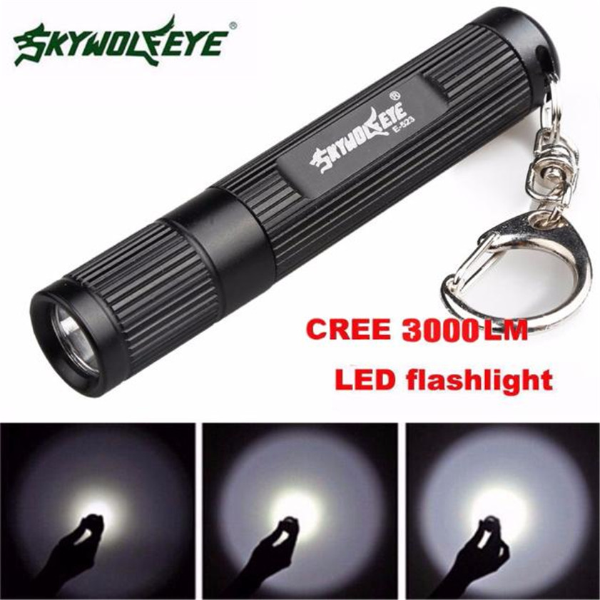 Super Mini 3000LM Zoomable CREE Q5 LED Flashlight 3 Mode Torch Super Bright Light Lamp r3 2led super bright mini headlamp headlight flashlight torch lamp 4 models