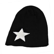 Новая Мода Акриловые Звезда Логотип Шляпы для Мужчин Высокого Качества Удобная Зимняя Шапка Мужчин