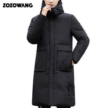 Hooded Long Winter Duck Down Parkas Men Casual Clothing Outwear Down Jackets Male Thick Down Coat Fashion Puffer Jacket new winter outdoor trekking white duck down jacket men hooded outwear duck down coat breathable hiking camping sports jackets