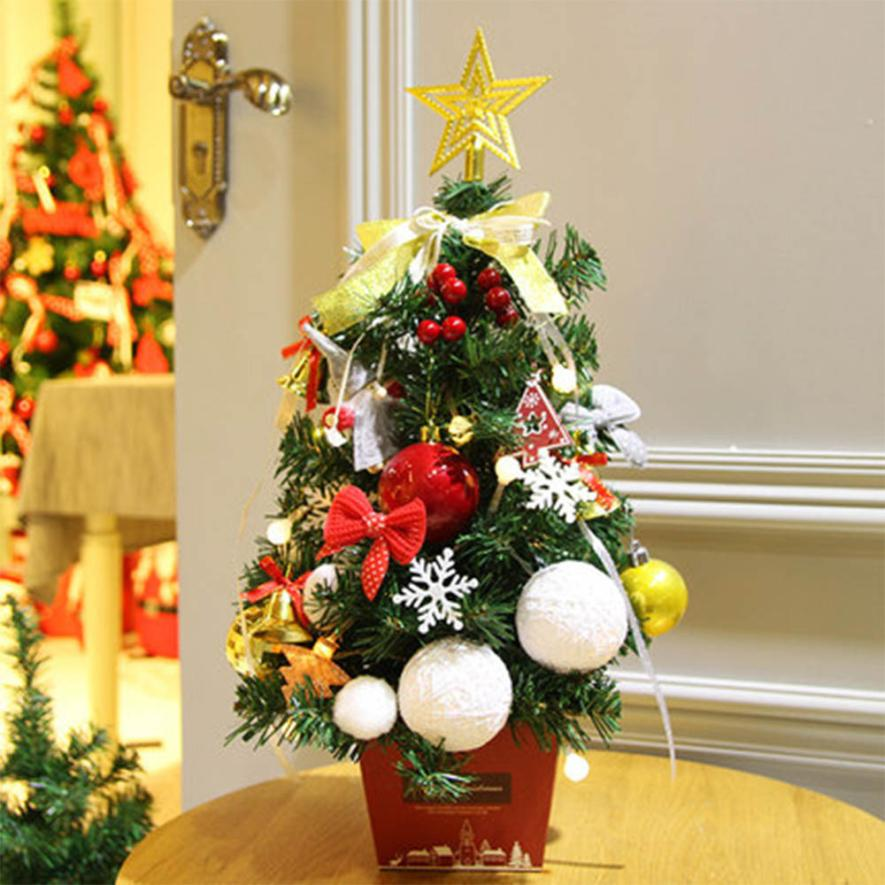 quality design ca828 a4e12 US $17.75 47% OFF|DIY Artificial Flocking Christmas Tree Multicolor Holiday  Xmas Window Decor Supplies christmas decorations for home C3083-in Trees ...