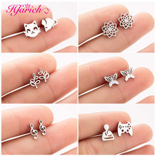 Hfarich Stainless Steel Mickey Small Earrings for Women Kids Earings Fashion Jewelry Snowflake Pineapple	Male Wholesale
