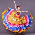 720 mujeres de grado español flamenco traje de la danza de toros dress largo robe fille de flamenco flamenco rojo vestidos para niñas l190