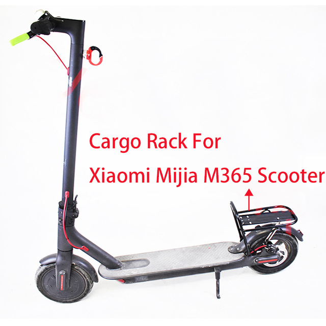 US $42 9 |Luggage Carrier Cargo Rear Rack Storage Shelf Saddle for Xiaomi  Mijia M365 Scooter Electric Skateboard-in Scooter Parts & Accessories from