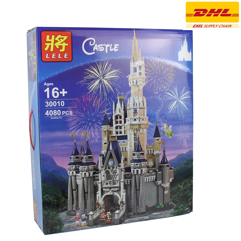 2017 New TOY LELE 4080Pcs Cinderella Princess Castle Model Building Kits Blocks Bricks Girl Toys Gift Compatible Gift 71040 lepine 16008 cinderella princess castle 4080pcs model building block toy children christmas gift compatible 71040 girl lepine