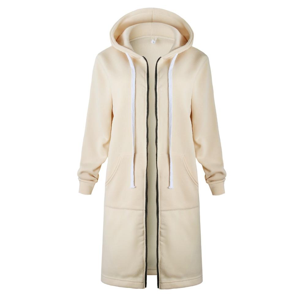 Plus S-5XL Women Thick Winter Warm Jacket Coat Zip Up Hoodies Hooded Overcoat