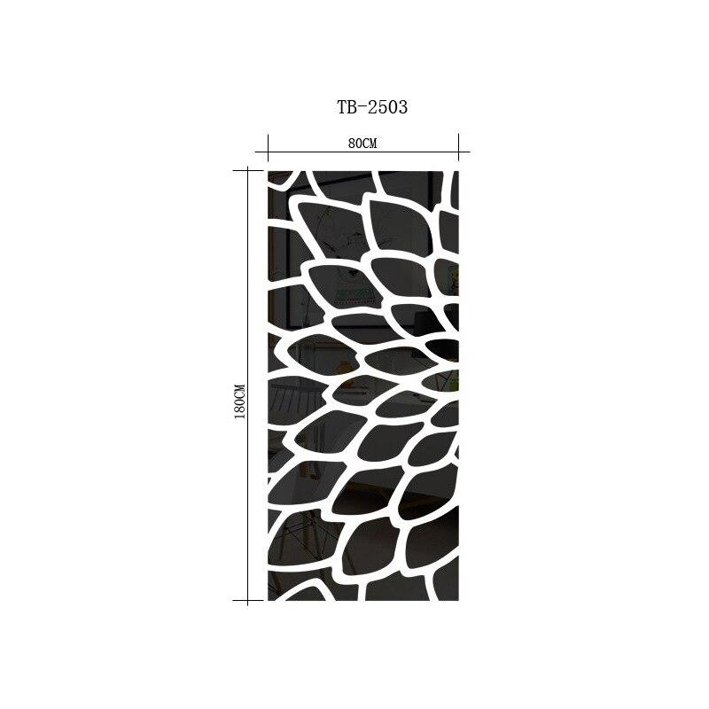 DIY planta árbol patrón redondo punto 3d pared pegatina decoración para el hogar espejo de pared grande dormitorio cama cabeza calcomanía pegatinas cartel de pared R101 - 5