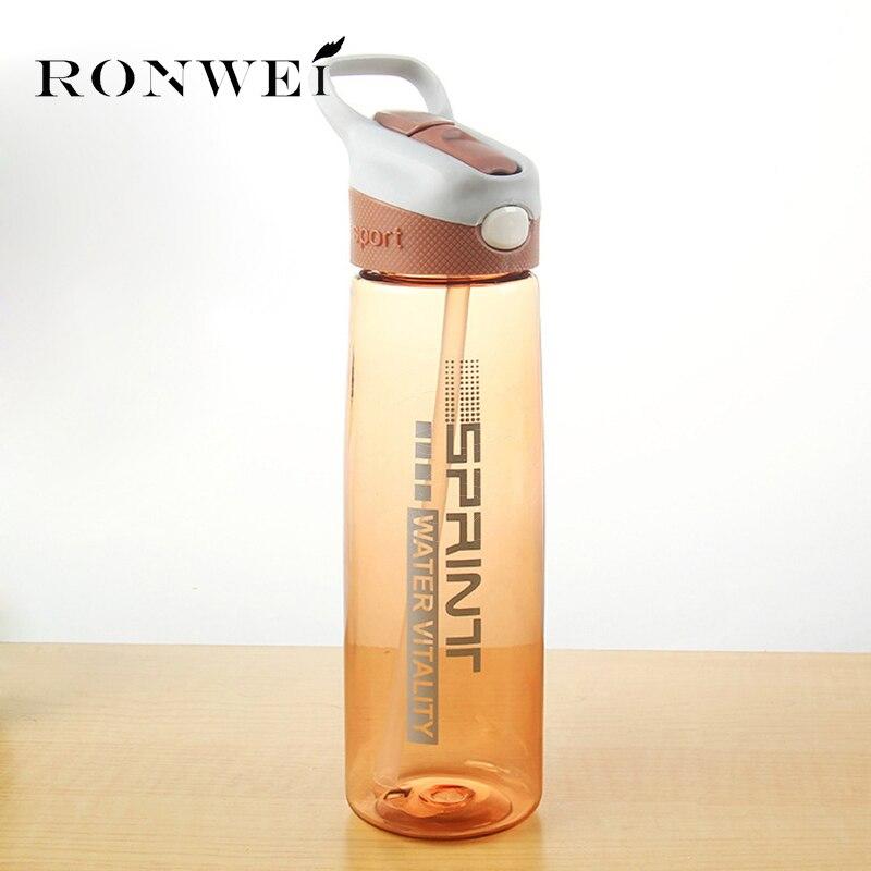 750ML My Water Bottle 3 Colors Bounce Cover Sport Water Bottle With Straw Leak Proof Shaker My Drink Bottles BPA Free