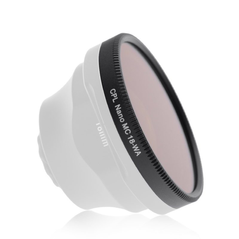 SIRUI 18-WA-CPL Smartphone Wide Angle lens Circular Polarizer CPL Filter fat cat 58mm converter cpl filter circular polarizer lens filter for gopro hero3 housing blue