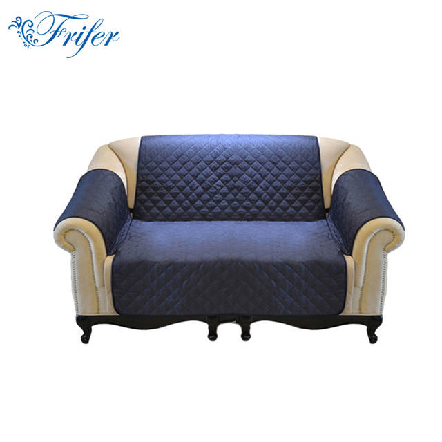 Online New Solid Color Waterproof Double Seater Sofa Cover Couch Stretch Seat Lounge Pockets Protector Slipcover Reversable Aliexpress