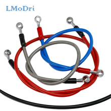 LMoDri Universal Motorcycle Brake Oil Hose Line Clutch Pipe Hydraulic Reinforced Stainless Steel Braided For ATV Dirt Pit Bike universal 500mm 2400mm motorcycle dirt bike braided steel hydraulic reinforce brake line clutch oil hose tube for most motor