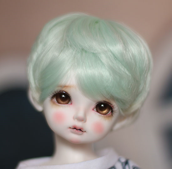 New! Doll Wigs Mint Green Short Hair High Temperature Wire Available For 1/6 1/4 1/3 Bjd Sd Dd Doll Accessories To Win A High Admiration And Is Widely Trusted At Home And Abroad.