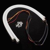 2X 60CM Flexible Tube Guide Car LED Strip White DRL Amber Turn Signal Light DIY 21010