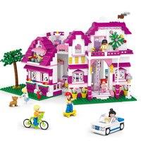 Sluban Model Toy Compatible With Lego B0536 726pcs Sunshine Villas Model Building Kits Toys Hobbies Building
