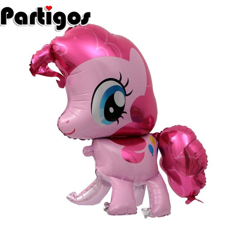 50 ps 100*97 cm rose cheval feuille Ballon cheval hélium Ballon enfants jouets de mariage anniversaire Animal fête décor fournitures